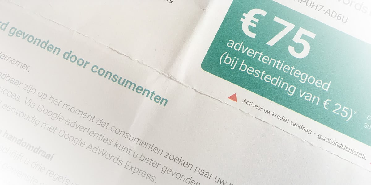 Advertentietegoed voor Google Adwords Express
