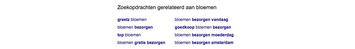 zoekwoorden onderzoek in google