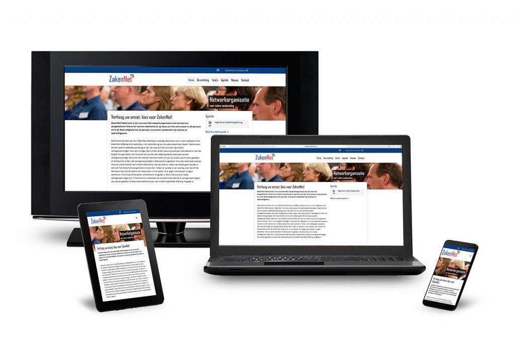 responsive website ZakenNet