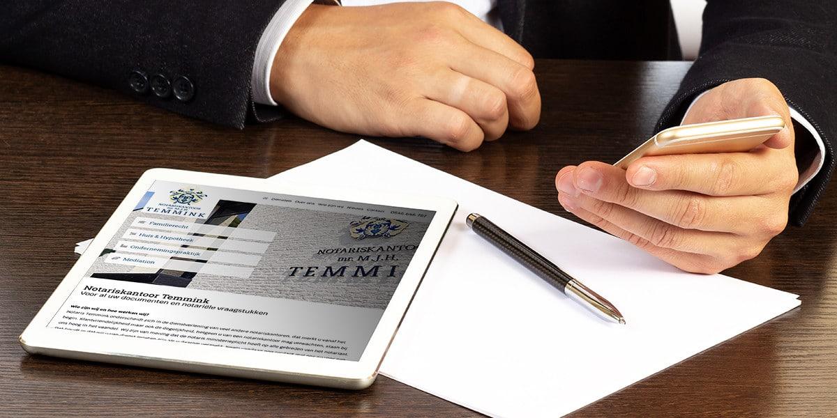 Notariskantoor Temmink heeft een nieuwe website