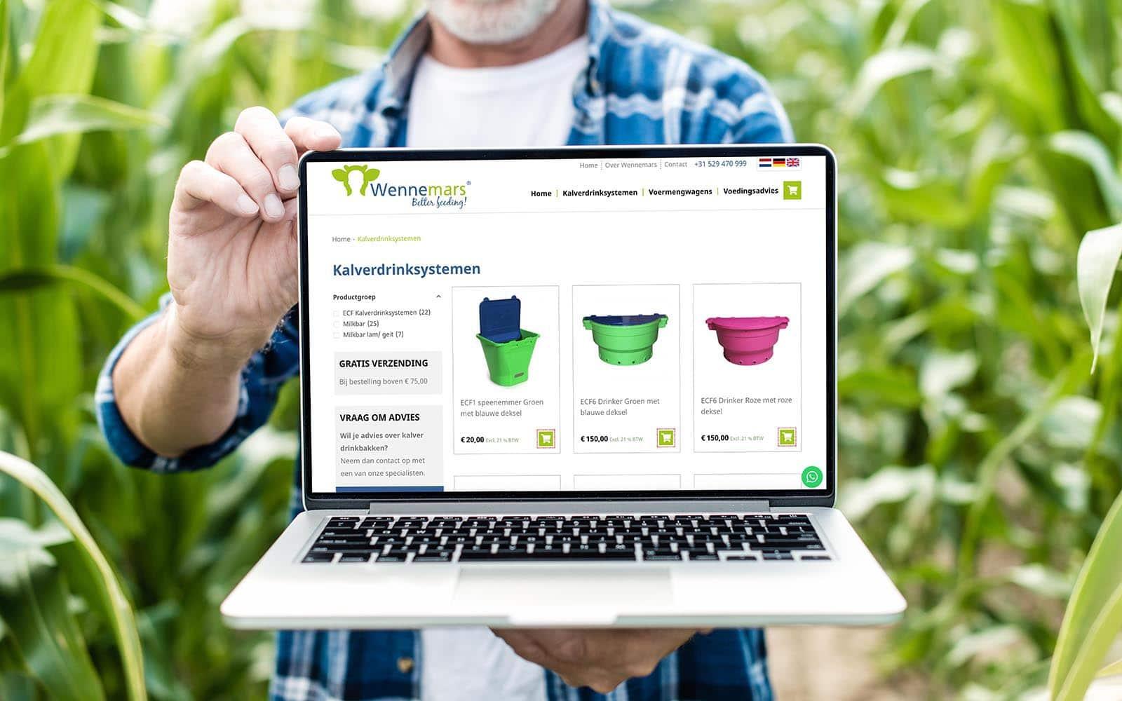 Woocommerce webshop voor Wennemars