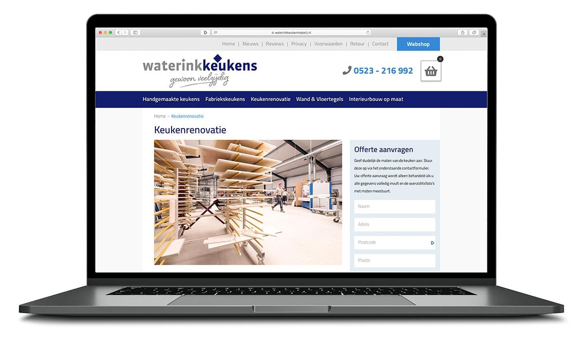 website pagina keukenrenovatie