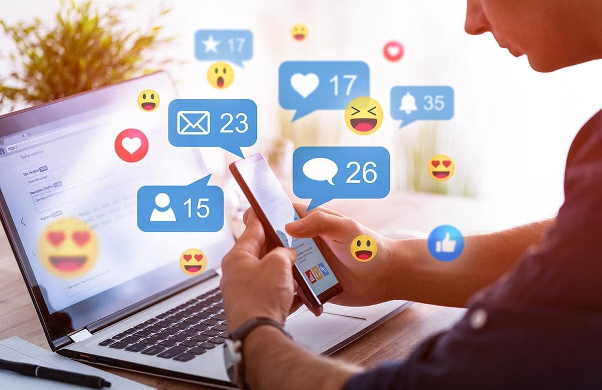 Berichten op social media